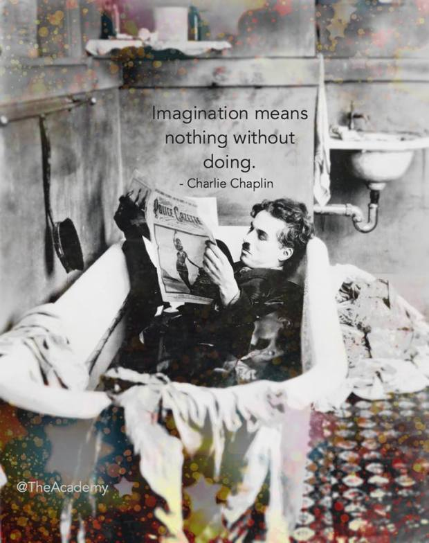 Chaplin, relaxing.